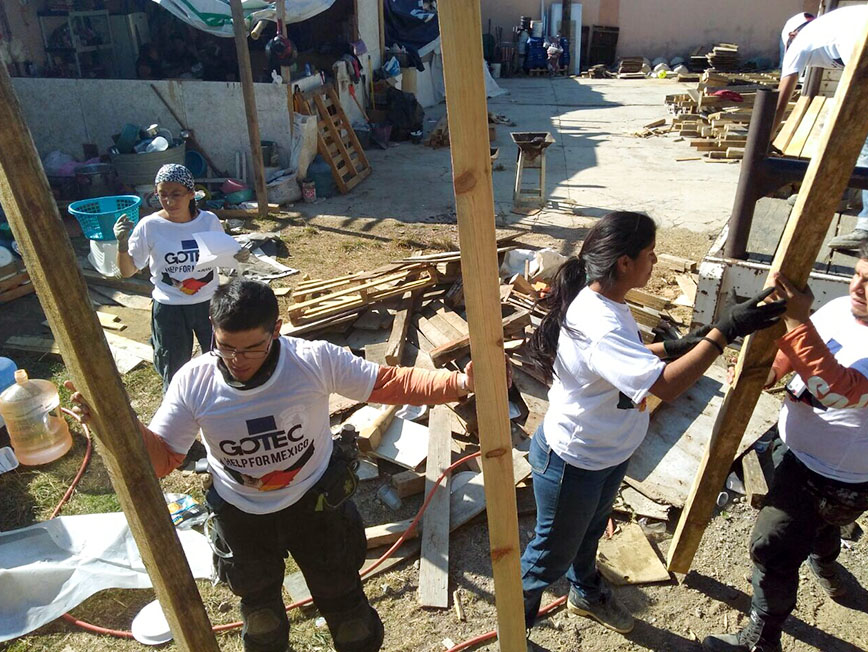 Gotec helps the victims of the earthquake in Mexico
